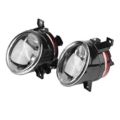 Qiilu 1 Pair Car Front Bumper Foglight Fog Light Driving Lamp for VW JETTA GOLF MK5 TIGUAN CADDY: Automotive