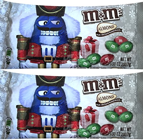 M&m's Chocolate Holiday Candies Almond Net Wt 9.90 Oz