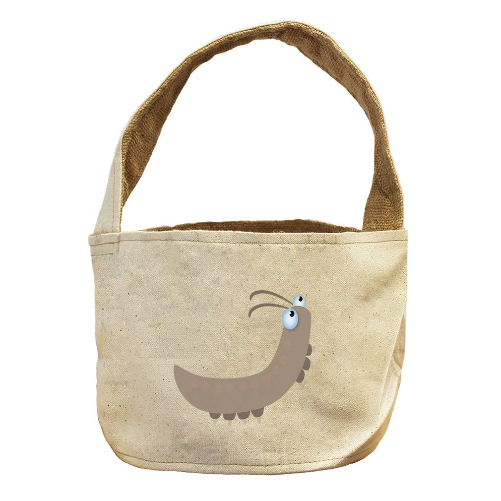 Style in Print Worm Crawling Up Animals Canvas and Burlap Storage Basket