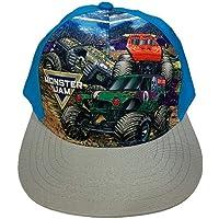 Kids Monster Jam Flat Brim Adjustable Hat Blue
