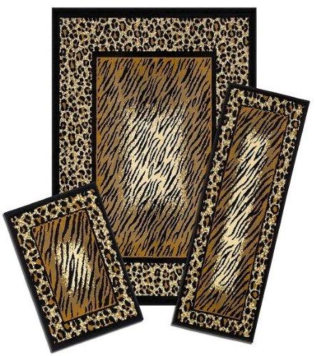 Capri Area Rug: 831/373-J Leopard Skin: 3 Piece Set (Print Runners Rug Animal)