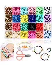 Braleto Polymeer Klei Kralen 18 Kleuren, Platte Ronde Spacer Kralen, Sieraden Maken Tool Kit Voor Accessoires Armbanden Ketting Oorbel