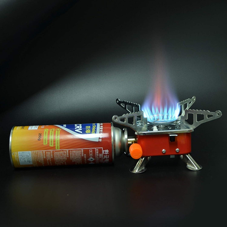 faltender Metallkanister-Herd Campinggasherd zum Wandern Picknick Trekking und Outdoor-Aktivit/äten,Standard Version HXSYD Tragbarer Campinggasherd-Mini