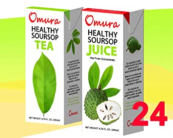 OMURA GRAVIOLA SOURSOP GUANABANA GUYABANO VARIETY PACK OF 24