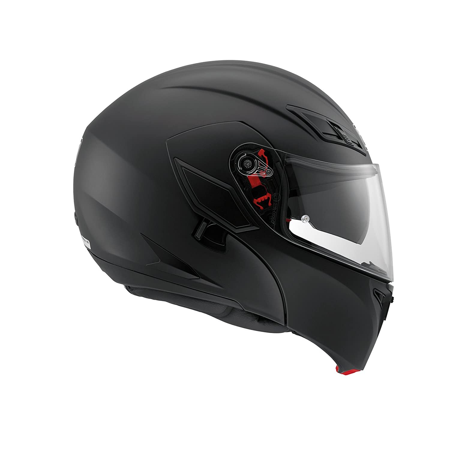 agv Compact-St Mono Motorcycle Touring Helmet In Black