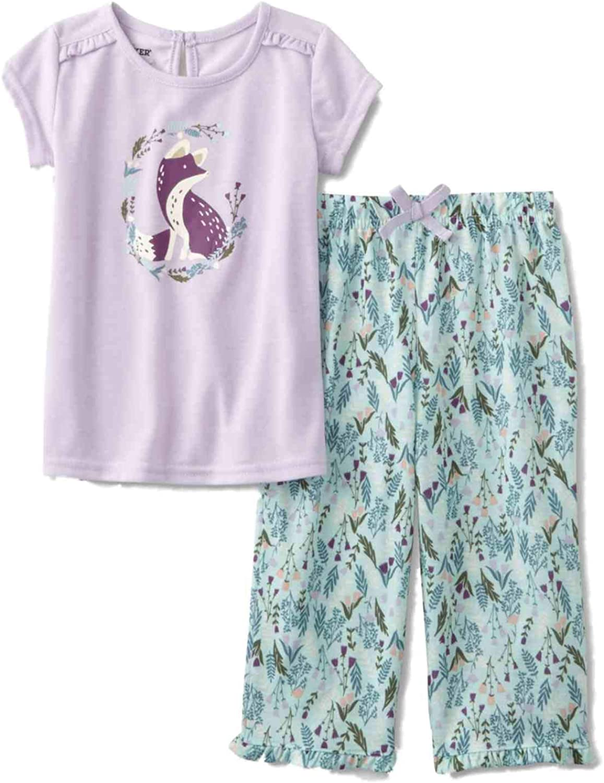Infant /& Toddler Girls Purple /& Blue Fox Pajamas Lightweight Sleep Set