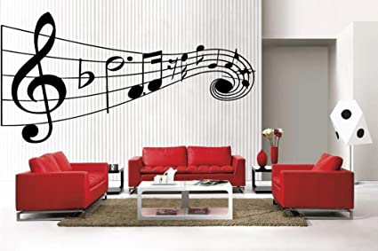 Newclew Music Musical Notes Removable Vinyl Wall Decal Home Decor