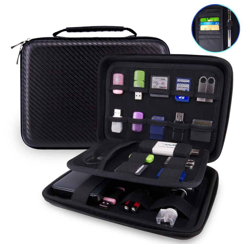 USB Flash Drive Case Bag / Hard Drive Case Bag - Wolven Portable EVA Waterproof Shockproof Hard Drive Case / USB Flash Drive Case / GPS Case / Digital Camera Case / Game Console Case / Card Case ETC