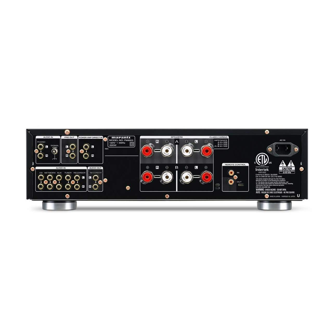 Marantz PM8005/N1B - Amplificador de audio (100 W, 0,02%, 125 dB, 120 V, 60 Hz, 220 W) negro: Amazon.es: Electrónica