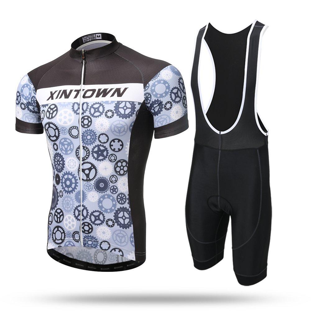 2019年秋冬新作 xintow Bicicletaサイクリング服シャツShorts Medium Sleeve Men set 's Bicicleta Racing Racing Wear自転車バイクSportwearジャケットa0310 Medium Grey bib set B06XF5RDNV, G-FACTORY:aa074a1c --- arianechie.dominiotemporario.com