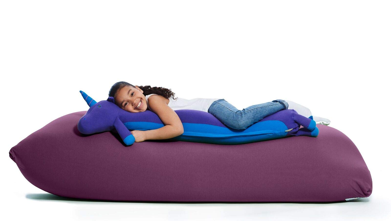 Yogibo Mates Roll Pillow - Comfortable Cylindrical Pillow w/Patented Fibead Filling - Removable Machine Washable Cotton & Spandex Cover - Perfect to Cuddle - Amazing Neck & Back Support - [Unicorn] by Yogibo