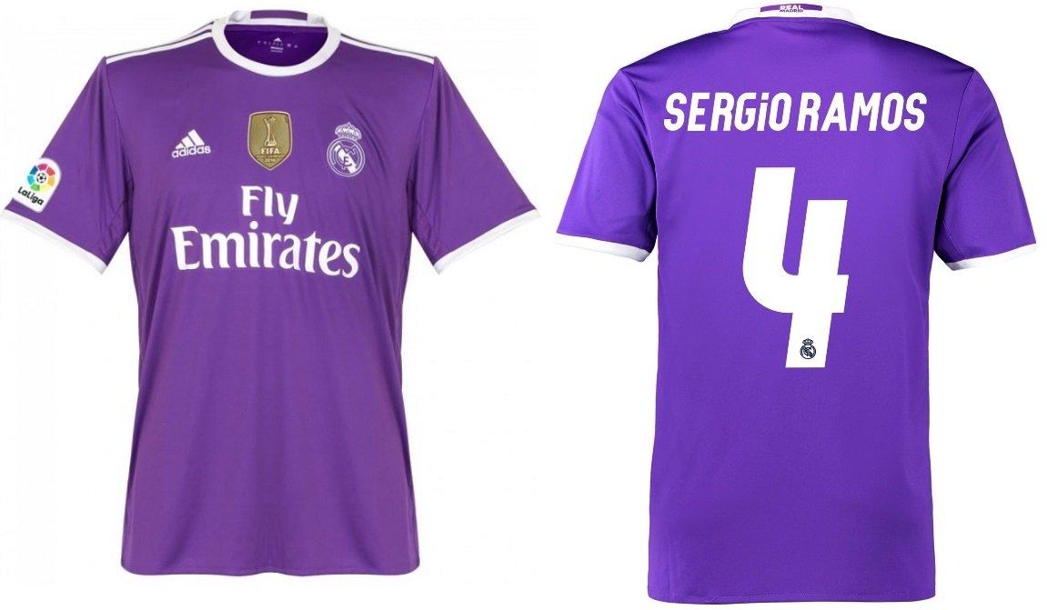 Trikot Kinder Real Madrid 2016-2017 Away WC - Sergio Ramos 4