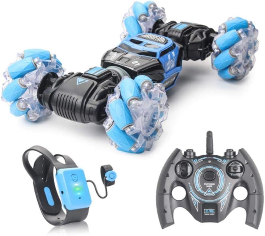 Brillie Control Remoto Stunt Car Conducción A Doble Cara 4WD Escalada 360 Grados Drift Vehicle Toys con Función De Deformación para Niños