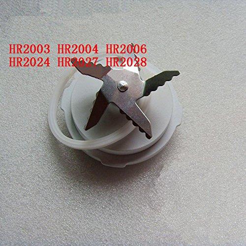Alaigo Blender Blade / Knife With Sealing Ring Fit For Philips HR2003 HR2004 HR2006 HR2024 HR2027 HR2028 HR2168 HR2171 (Pack of 1 ) ()