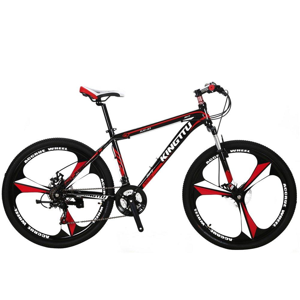 Extrbici X3 MTB 自転車 シマノ26インチ マウンテンバイク 中古品[ シマノラピットファイヤー21段変速/アルミフレーム/前後ディスクブレーキ ] B07CZDGQCY レッド レッド