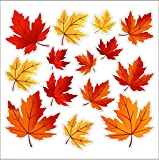 Autumn Leaves Static Cling Window Leave Decals Removable and Reusable Autumn Leaf Clings