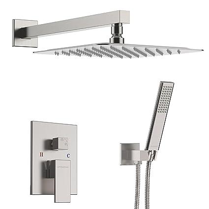 ec41513ba EMBATHER Shower System- Brushed Nickel Shower Faucet Set for Bathroom-  State-of-