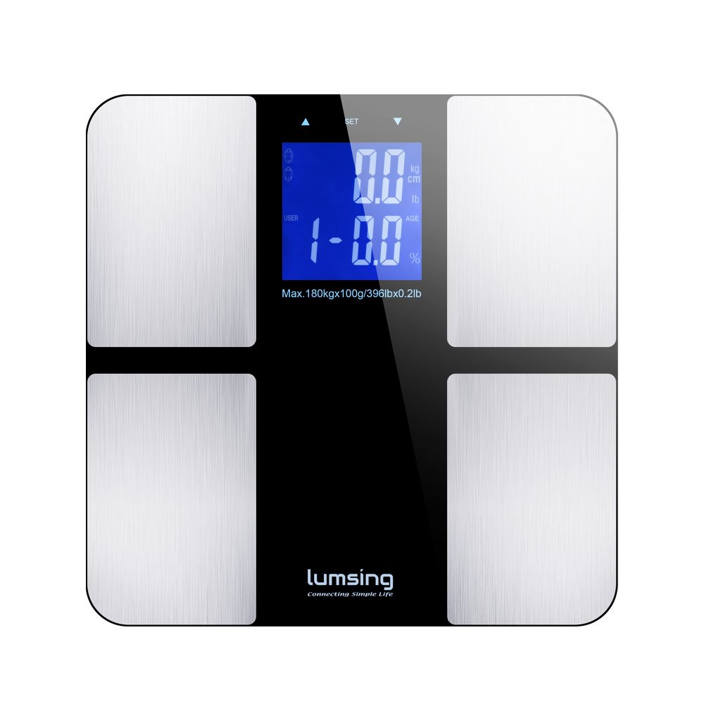 Amazon scale bathroom - Amazon Com Lumsing Digital Body Fat Weight Scale Measures Weight Body Fat Bmi Water Muscle And Bone Mass 400lbs 180kg Capacity Silver Health