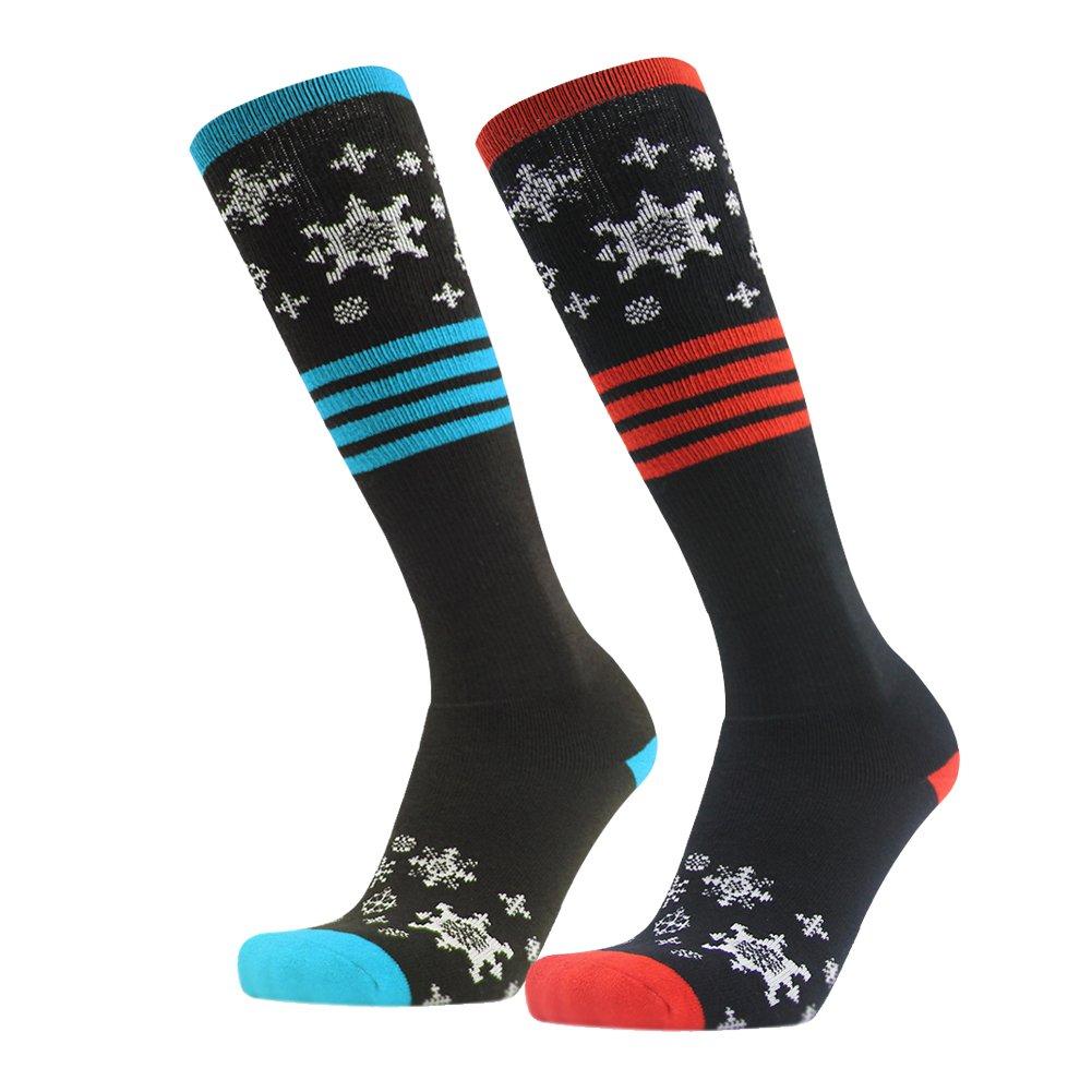 Snow Ski Socks, Gmark Ski Socks 2 Pairs Pack for Skiing, Snowboarding, Cold Weather, Winter Performance Socks