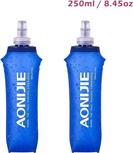 Folding Collapsible Soft Flask Water Bottle BPA Free Hydration Bladder Pack Vest