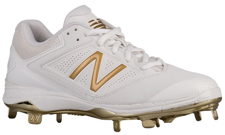 [ニューバランス] New Balance 4040v1 Metal Low レディース ベースボール [並行輸入品] B072LNHGQVホワイト/ゴールド US05.0