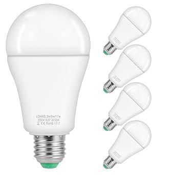 LOHAS No Regulable Scene Switch Bombilla LED E27, Elige entre 3 escenarios de iluminación,