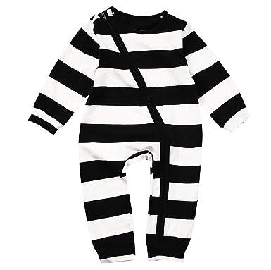 e0f3e35328c3 Amazon.com  Annvivi Organic Striped Cotton Baby Boy Girl Zip up ...