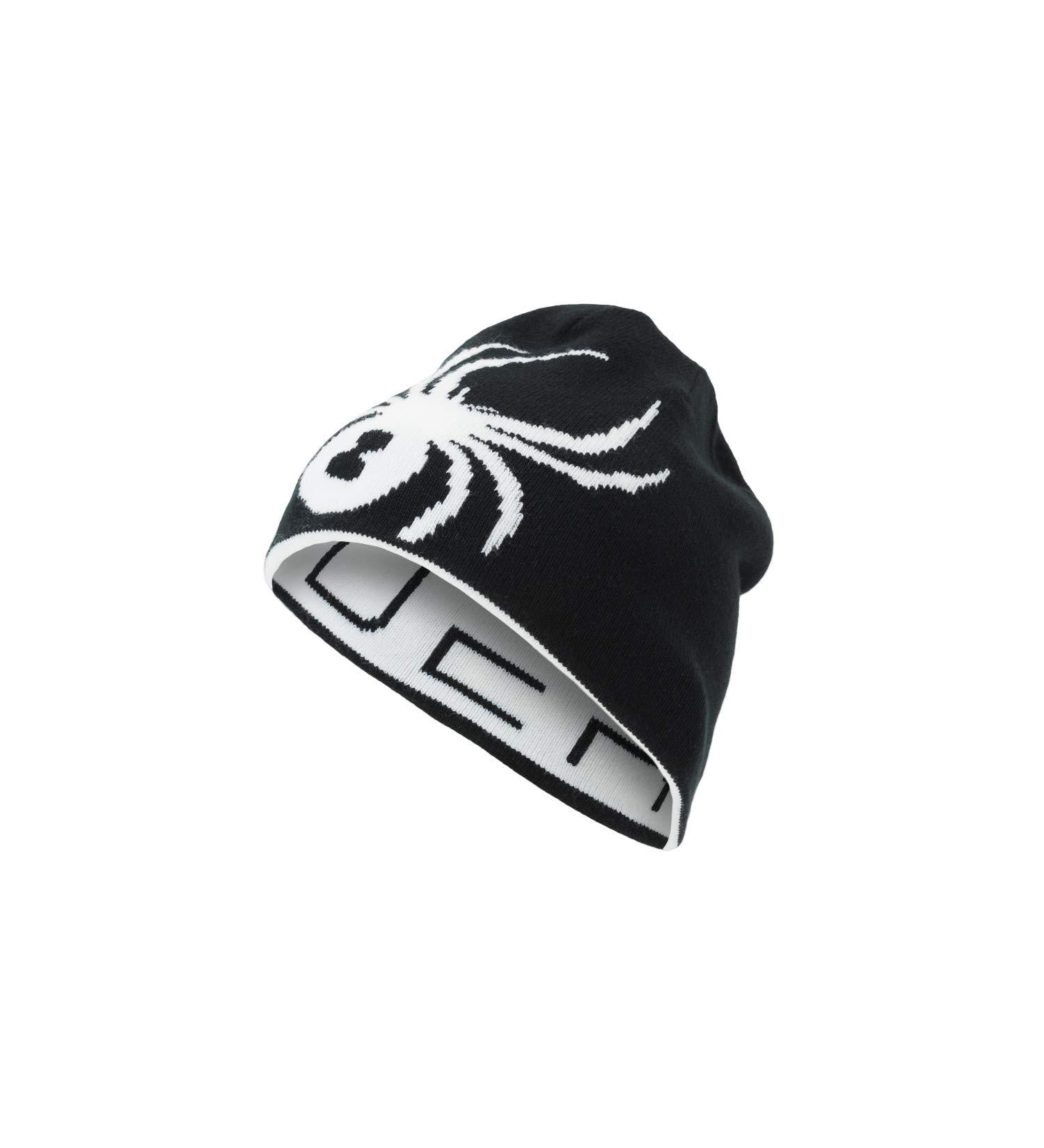 Spyder Boys' Reversible Bug Hat, Black/White, One Size