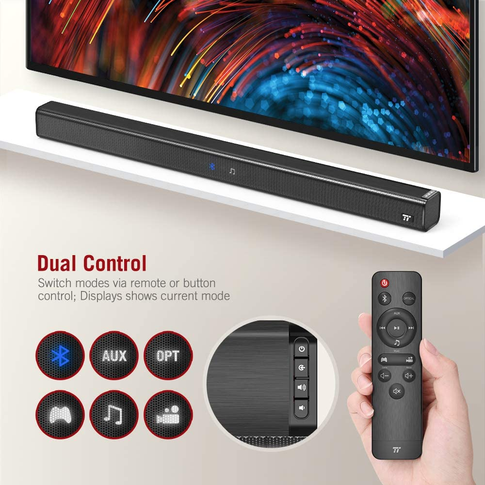 Wireless Bluetooth 4.2 Speaker Wall Mountable Remote Control ...