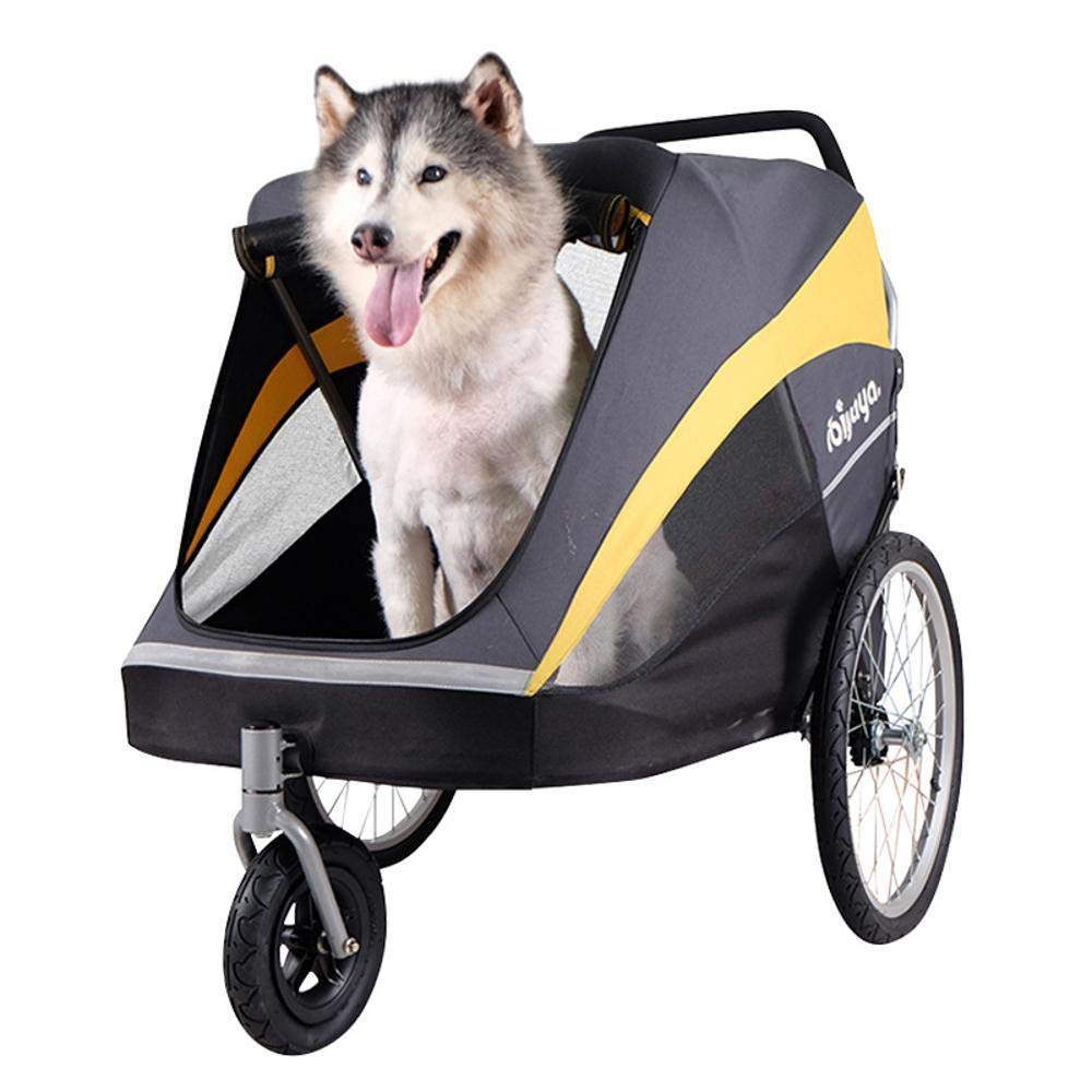 Dixinla Pet Stroller Cat golden Bus Big Dog out trolley