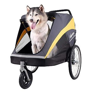 Aoligei Carrito para Mascotas Pet Stroller Oro autobuses Perro Grande un Carro: Amazon.es: Productos para mascotas