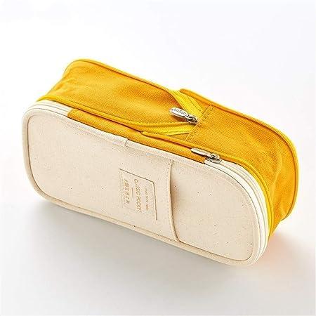 Estuche Para Lápices Portátil Bolso De Cosméticos Bolsa De Maquillaje Almacenamiento De Bolsas (amarillo) Amarillo Jengibre: Amazon.es: Hogar