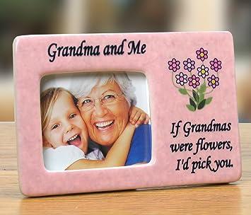 grandma frame grandma and me picture frame pink ceramic frame with flowers and grandma