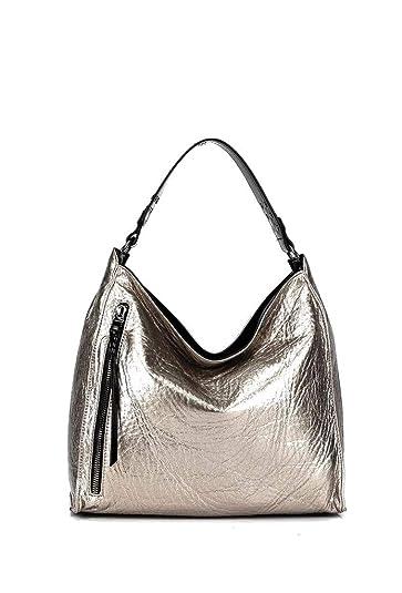 c437807113 Angkorly Sac à main Cabas porté épaule Tote bag Fourre-tout clouté brillant  moderne souple