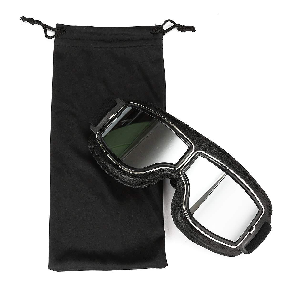 MASO Motorcycle Goggles Over Glasses Eyewear Motorbike Windproof Silver