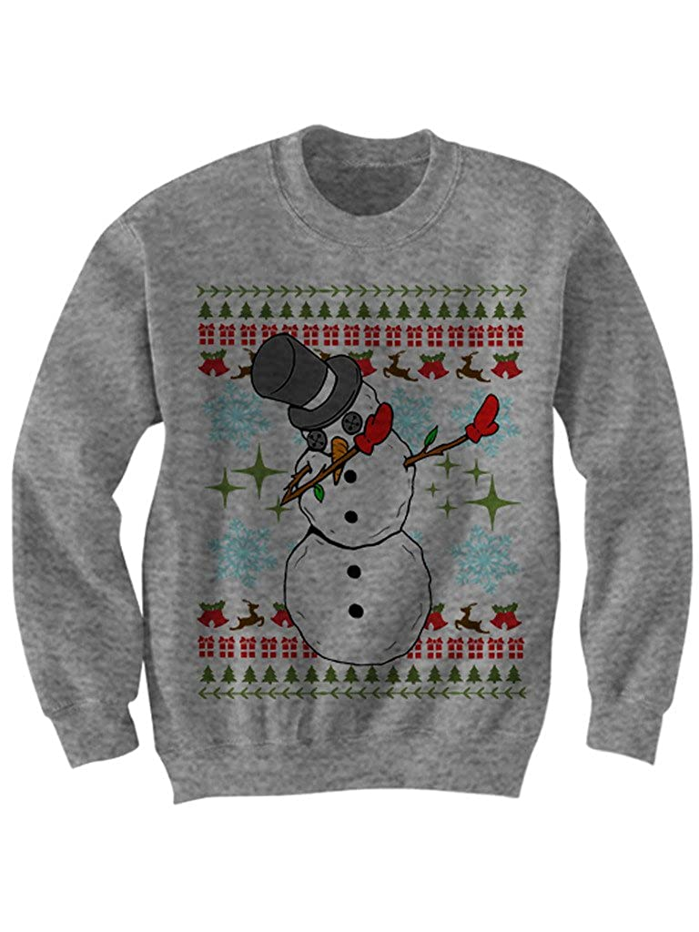 Celebrity Cotton Snowman Dabbing Christmas Sweater Ugly Sweaters Christmas Gifts