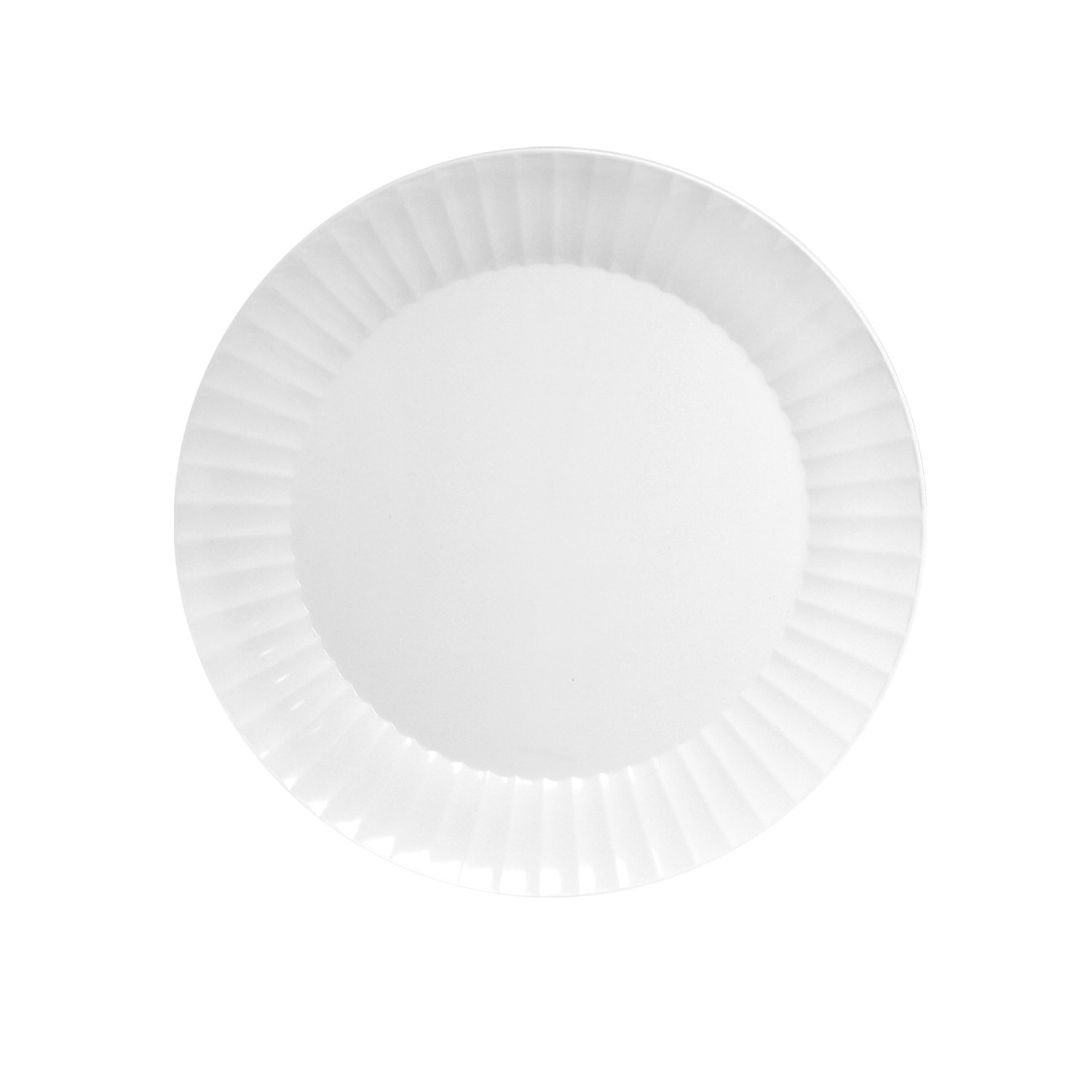 Party Essentials N94004 Party Supplies Tableware, 9'' 40-Count, White