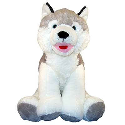 "Beary Fun Friends Recordable 16"" Plush Snowshoe The Husky w/20 Second Digital Recorder for Special Messages, Rymes or Songs: Toys & Games"