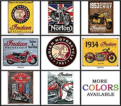 Shop72 - Tin Sign Bikes Tin Sign Retro Vintage Distrssed