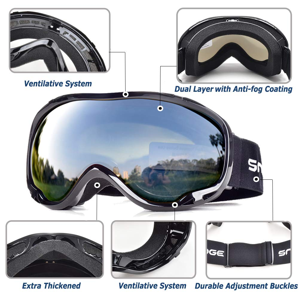 2d7c5a8598a Amazon.com   HUBO SPORTS Ski Snow Goggles for Men Women Adult