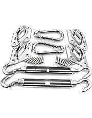 HONGCI Kit de fixation Voile d'ombrage - Acier inoxydable 304 Kit Accessoires de fixation de matériel pour Voile d'ombrage, Toile d'ombrage Triangulaire, Carré