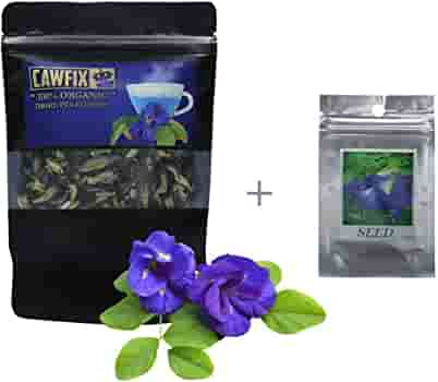 Cawfix Thai Organic Dried Butterfly Pea Flowers Multipurpose Clitoria Ternatea Loose Herbal Tea Leaves In 50g Airtight Ziplock Bag No Pesticides For Beverages Cocktails Baking Seeds Included Grocery Gourmet Food Amazon Com