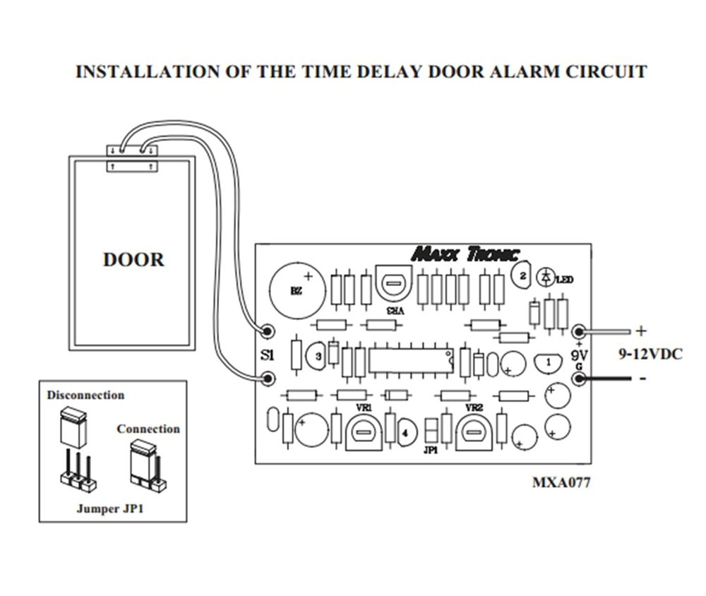 Door Alarm Time Delay 9 12 Vdc Electronic Circuit Kit Electric Motor Diagram As Well Access Control Contact Electrical Mxa077 Electronics Camera Photo