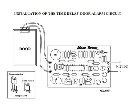 Alarma de puerta Tiempo de Retardo 9 - 12 VDC circuito electrónico Kit: mxa077: Amazon.es: Bricolaje y herramientas