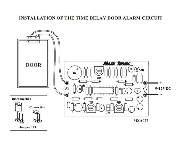Alarma de puerta Tiempo de Retardo 9 - 12 VDC circuito ...