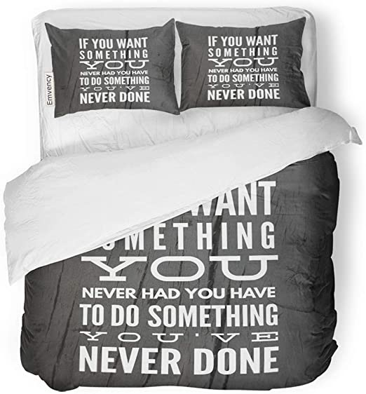 Sanchic Duvet Cover Set Inspirational Quote Best Motivational Quotes And Sayings About Life Wisdom Positive Uplifting Empowering Decorative Bedding Set With Pillow Sham Twin Size Amazon Co Uk Kitchen Home