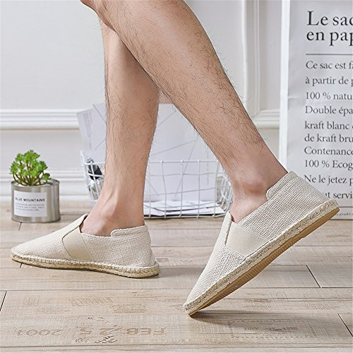 Canvas 2018 Shoes Low Loafers Mens Moccasins Size New Shoes Color Breathable Fashion Hemp 43 C Spring Bottom Top qpxt4rp