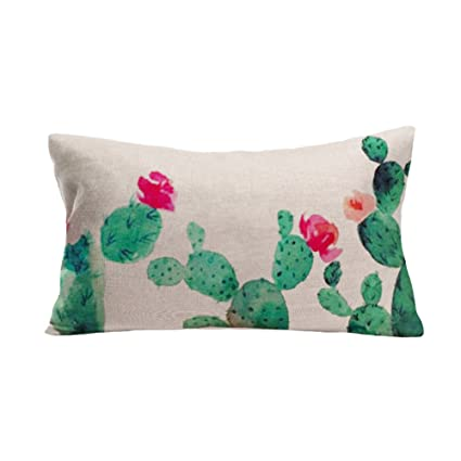 Cute Cactus Pattern Rectangle Pillow Covers Decorative Throw Pillows Interesting Cute Decorative Pillows For Cheap