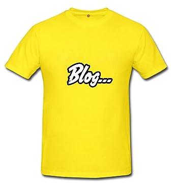 kalifornia T-shirt Blog Yellow: Amazon.es: Ropa y accesorios