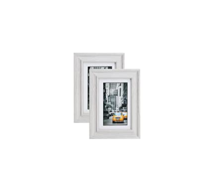 Amazon.com - Marble Gray Wood Picture Frame 4X6 (2pc) Photo Display ...